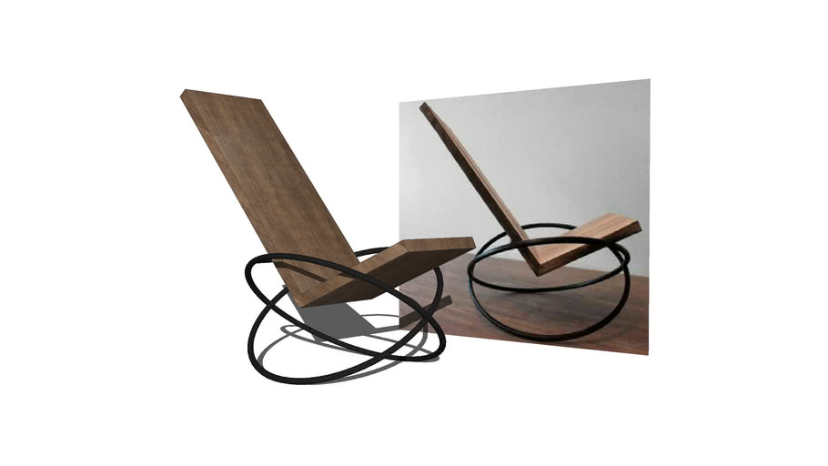 Wooden Rocking Chair By Andre Joyau