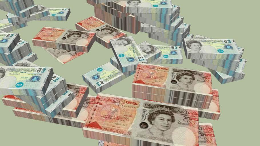 staks of money