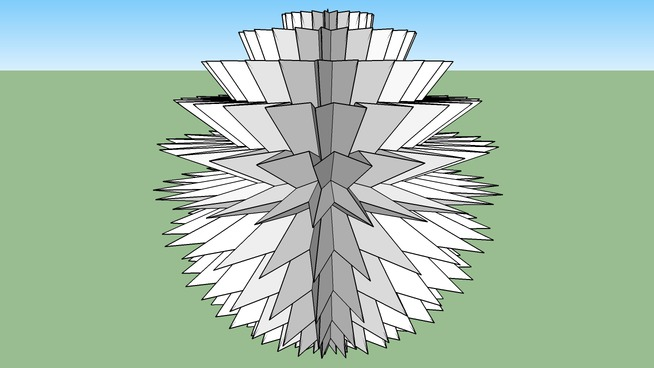 3D 24 pointed star