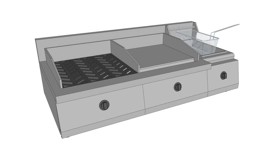 SS GRILLER-GRIDDLE WITH FRYER