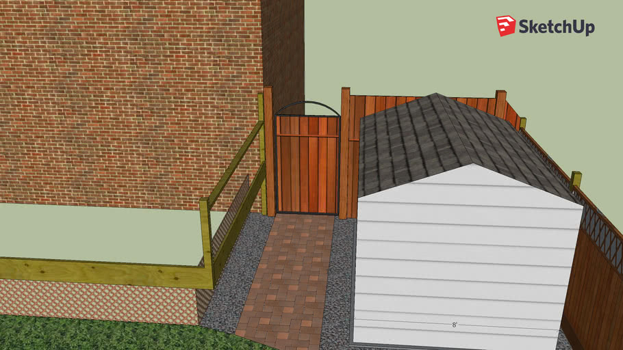 Gate, Fence and Shed pad