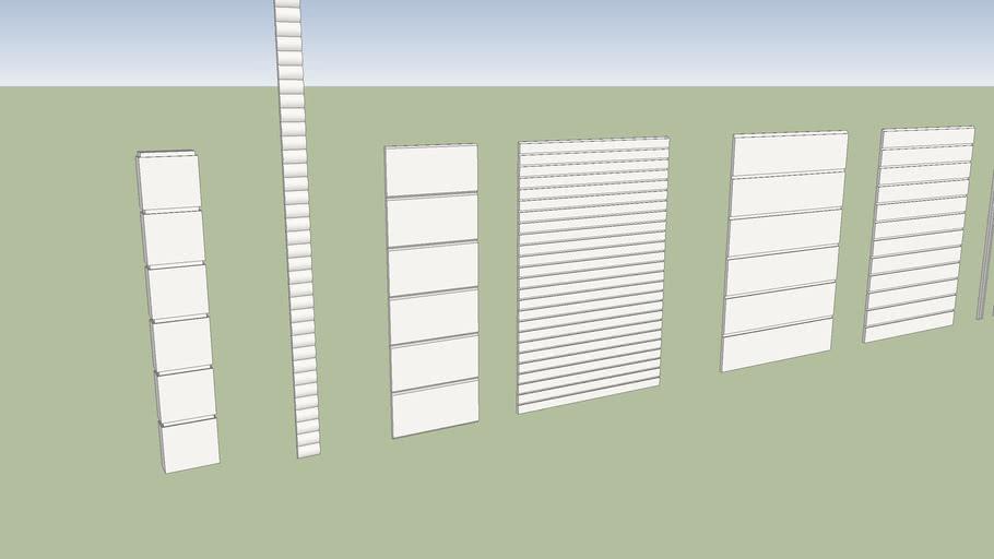 Dış Cephe Söve Türleri (exterior siding)