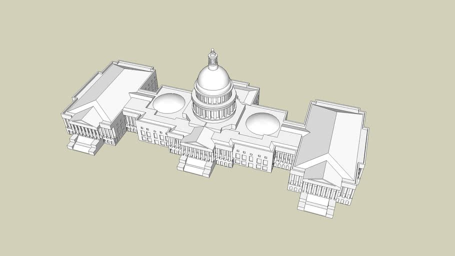 United States Capitol Building 3d Warehouse