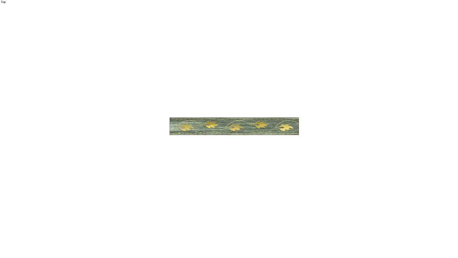 Decorative plank, green & gold