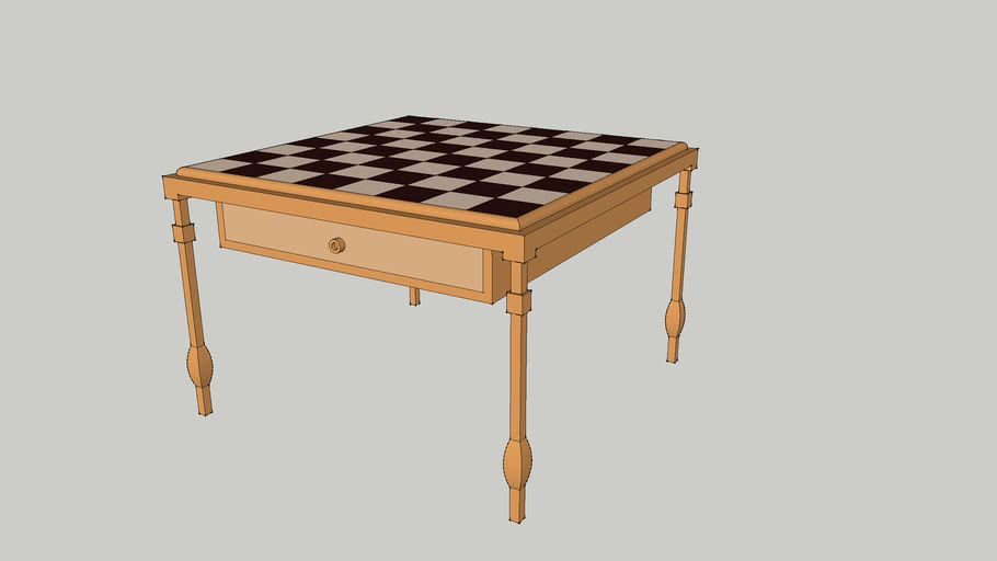 Chess Table (with Drawer)