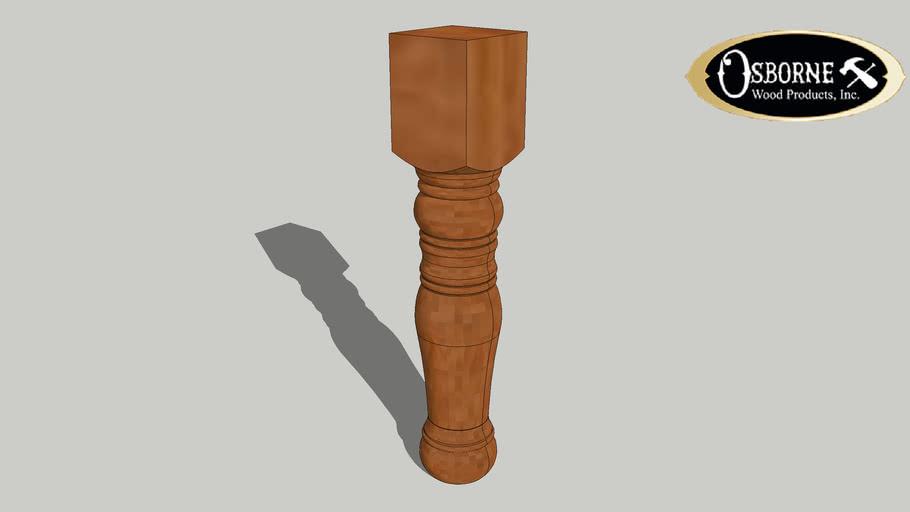 """Colonial Coffee Table Leg (18"""" x 3 1/2"""")"""