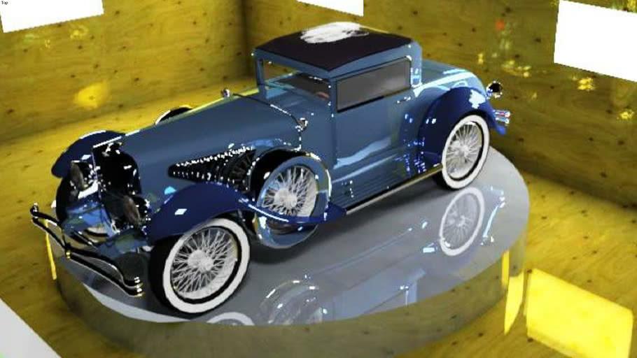 carro antiguo iluminado