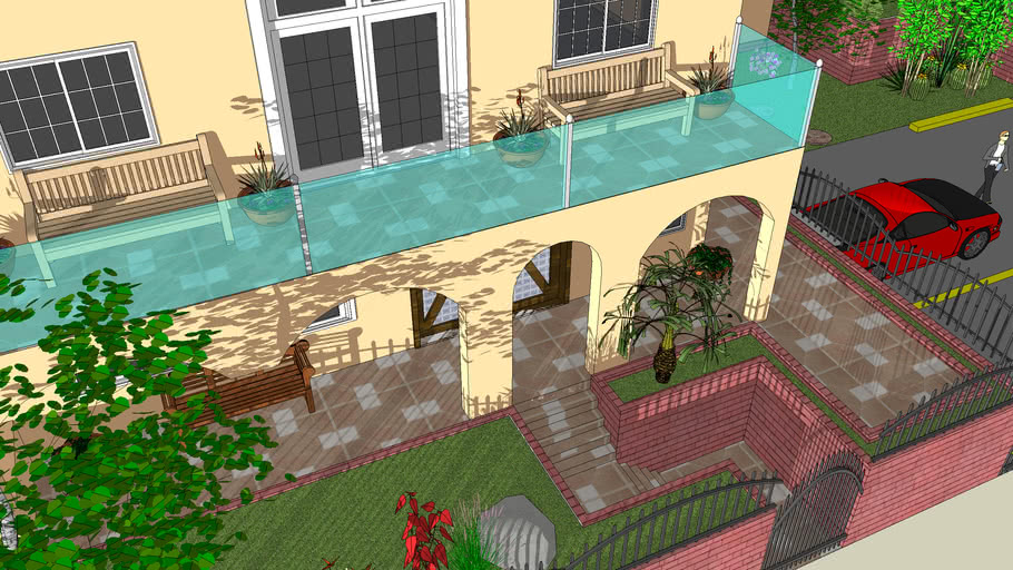 HOUSE , HOME , CASA , POOL , CAR , FENCE , BUILDING , FLOOR , ROOF , DOOR , SEATING