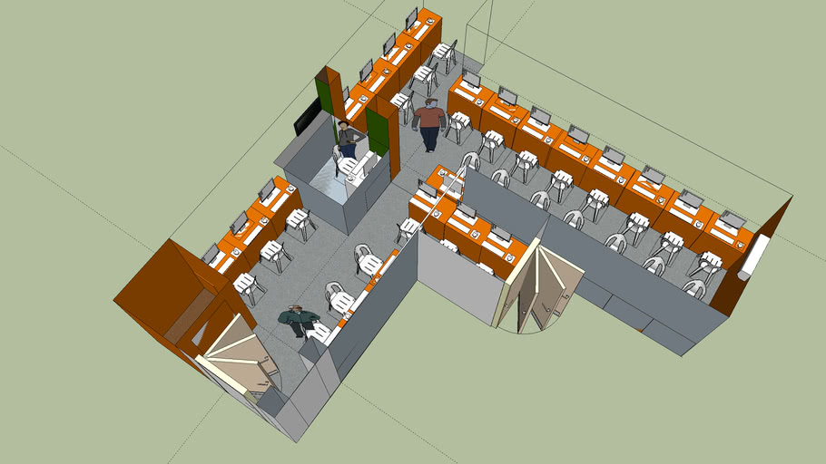 Internet Cafe 3d Warehouse