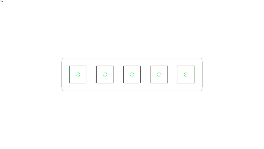Unica Studio Frame 5 gang, white