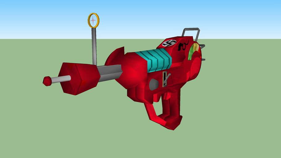 Very detailed ray gun___masterpiece