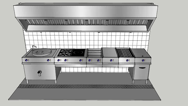Restaurant Kitchen 3d Warehouse