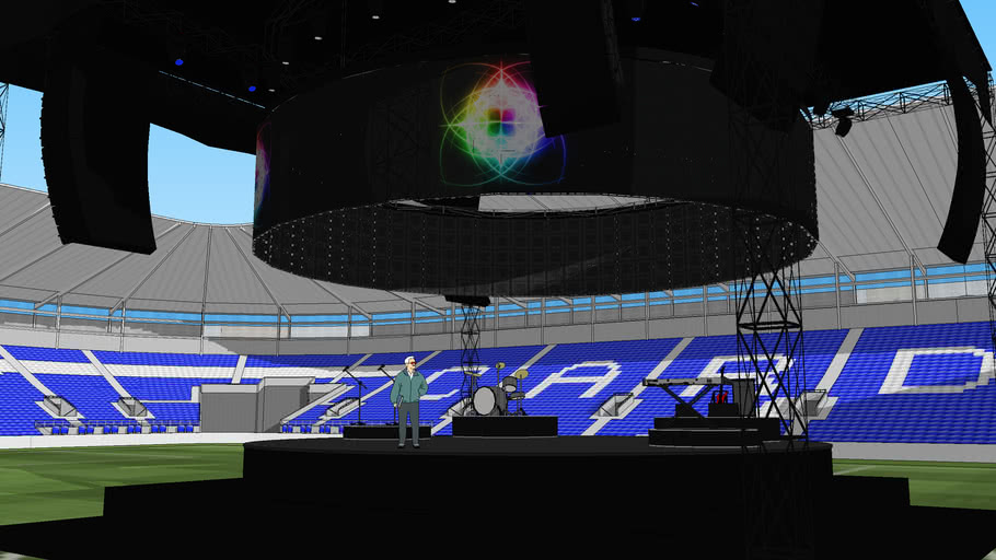 360 Stage inside Cardiff Stadium