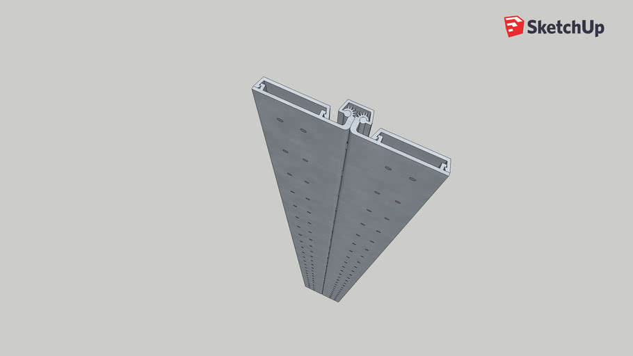 Geared Continuous Hinge (Full Surface, 200 cm, Closed)