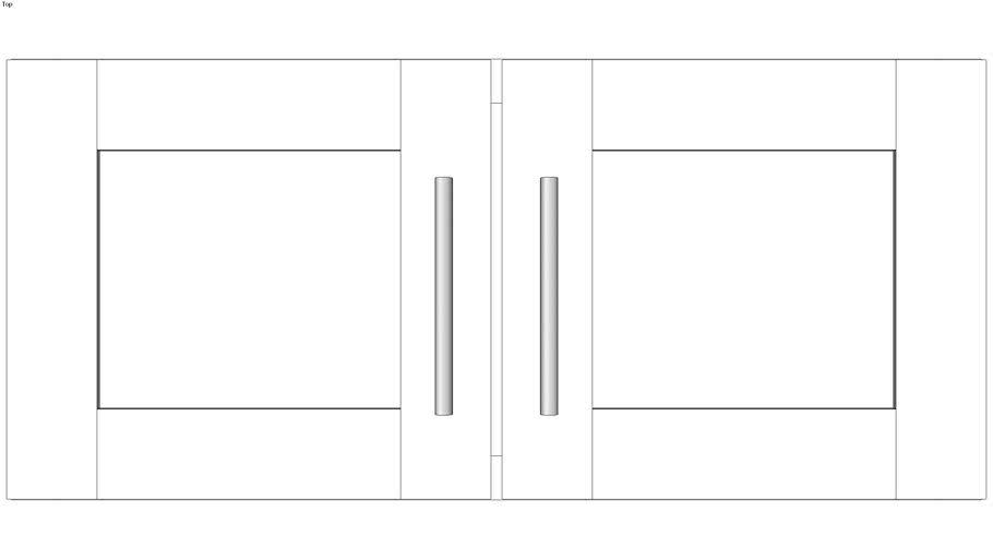 Wall Double Door 15H