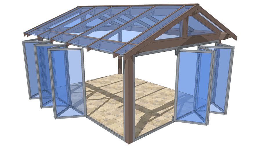 Patio whith folding doors