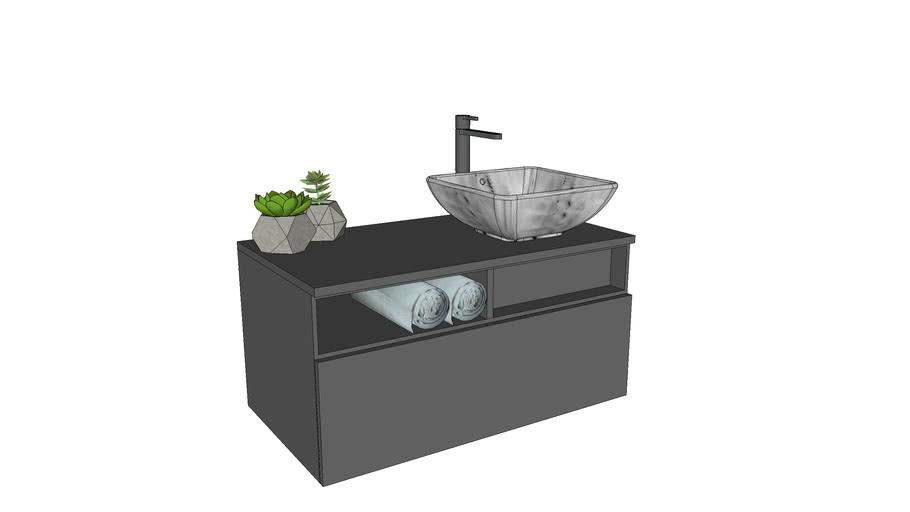 Vanity Counter 3d Warehouse, Bathroom Cabinet Warehouse