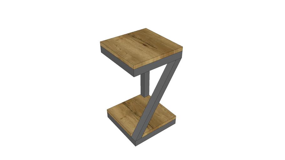 Vierkante bijzettafel eiken - Square side table oak
