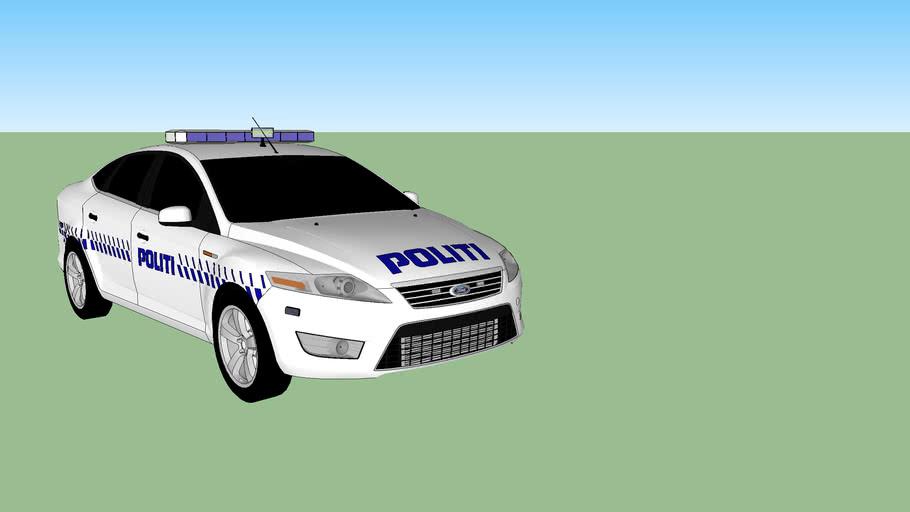Danmarks politibil 2010 ford mondeo