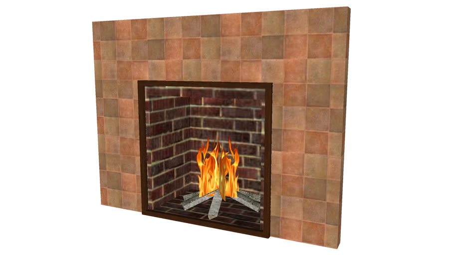 Fireplace 2ftx2ft - Detailed