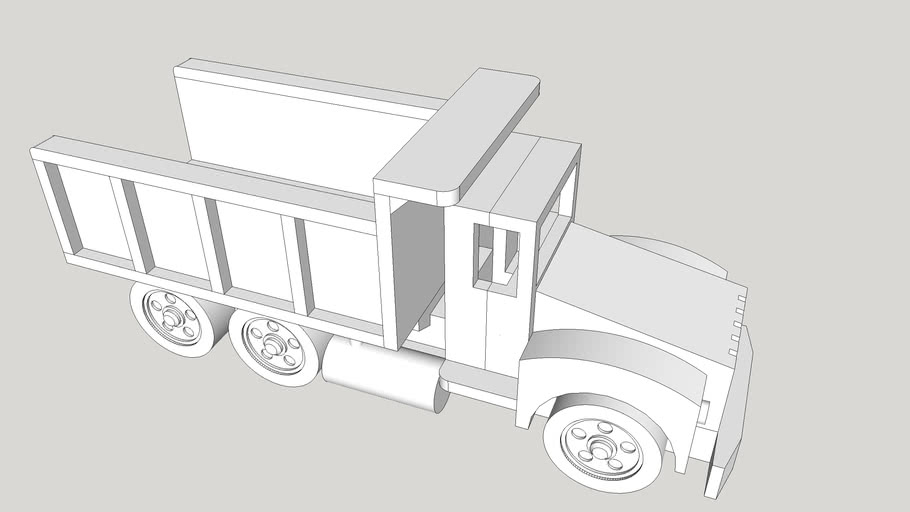 Dump Truck Wood Toy