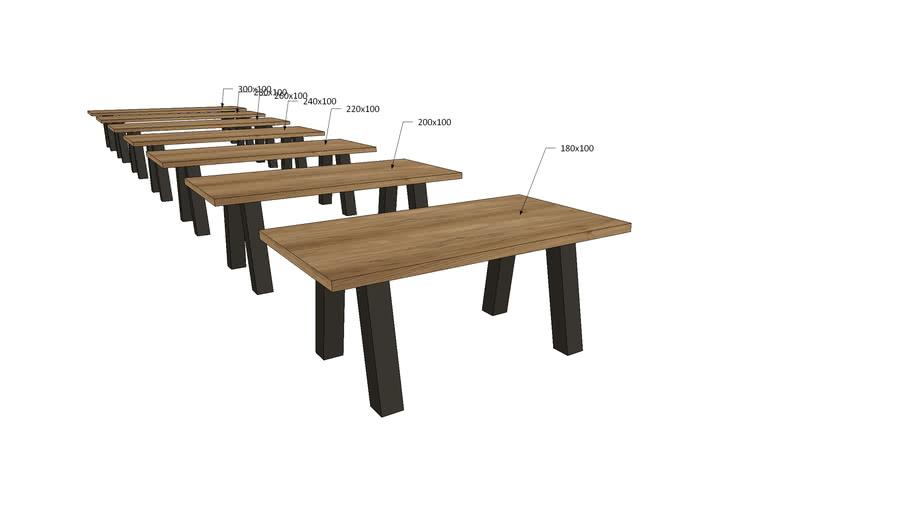 VI1Vx, Vivaldi Dining Table V Metal Legs