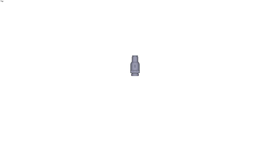 7984 - NON-RETURN VALVE SUPPLY FLOW PARALLEL & METRIC DIAM D 6 MM C G1/4