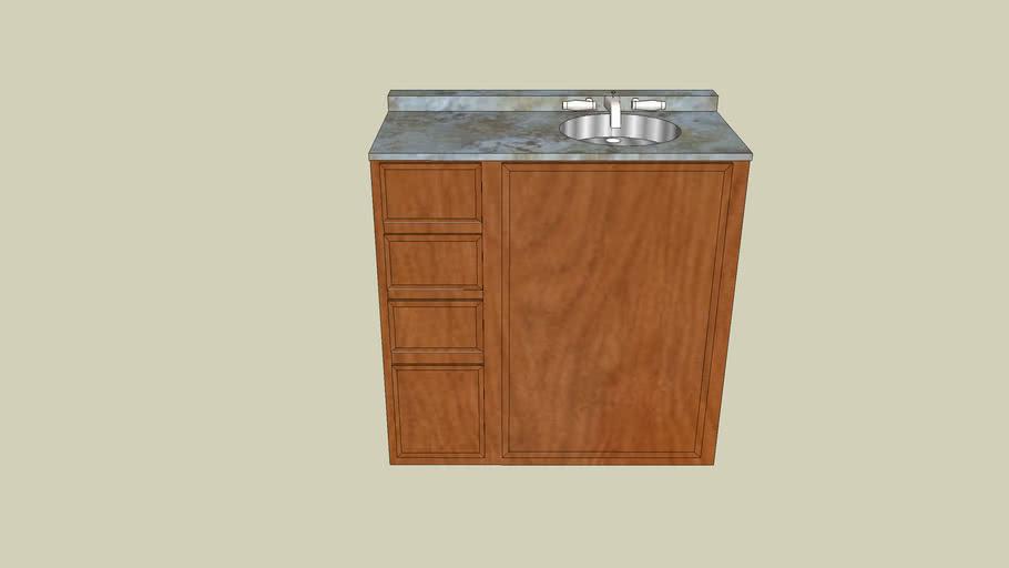 Bathroom Sink w/ left side drawers