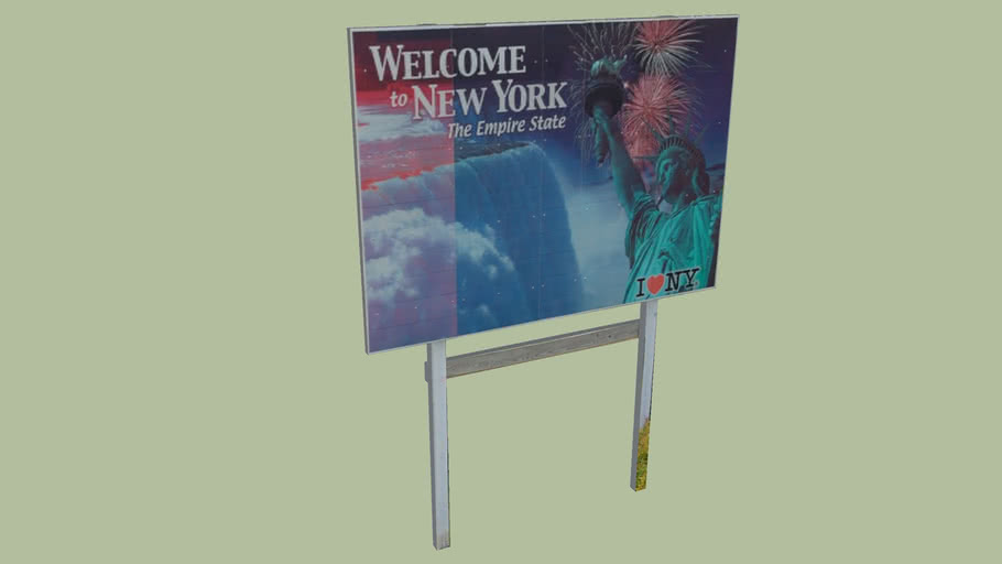 Welcome Sign New York State
