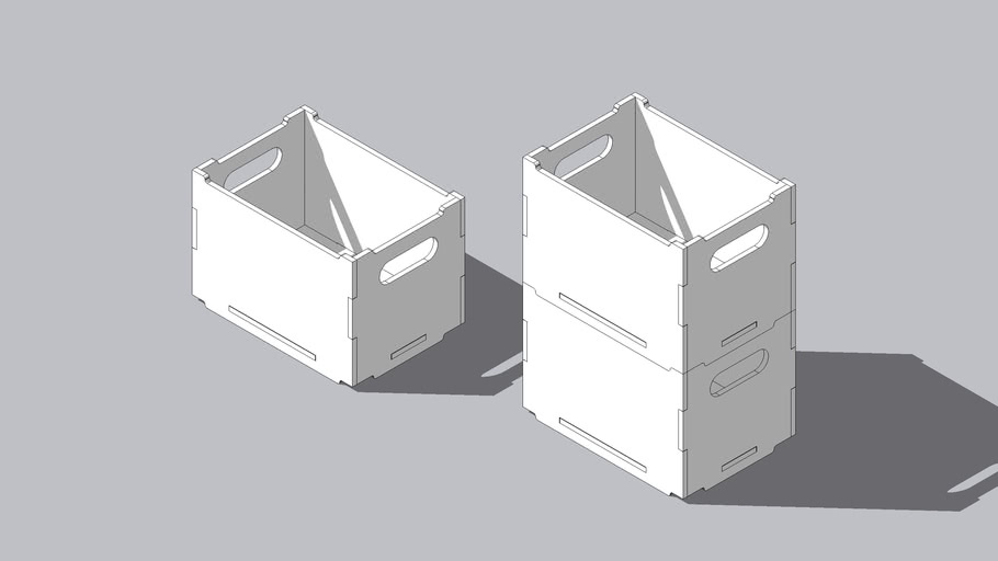 Stackable CNC Crate