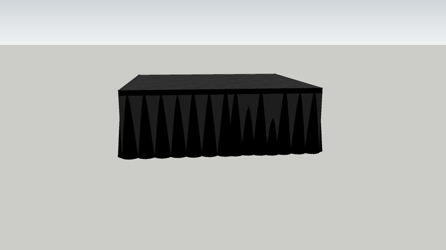 """4'x4'x16"""" Stage with Skirt"""
