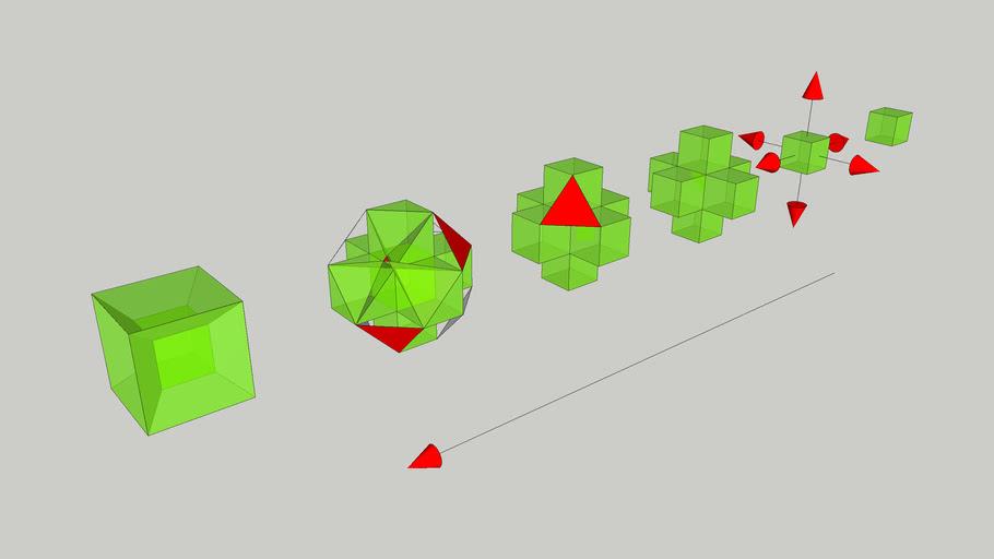 Hiper-cubo - Sequencia de construção