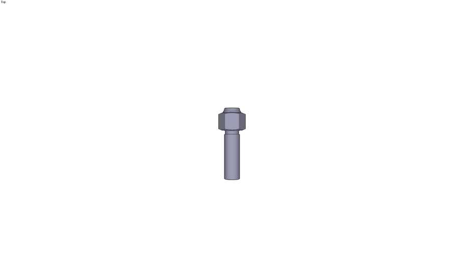 Adjustable threaded swivel ball support...and interchangeable insert form C - M16
