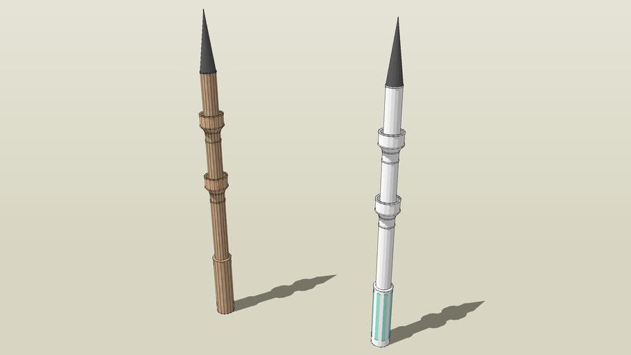 Minaret très détaillé parfait pour Mosquée !