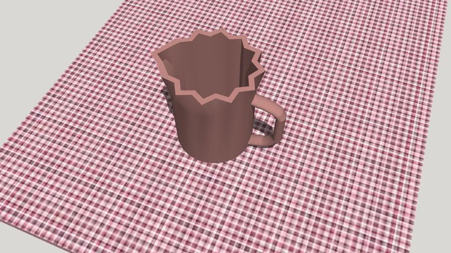 Jarra de cerámica con vertedor alargado