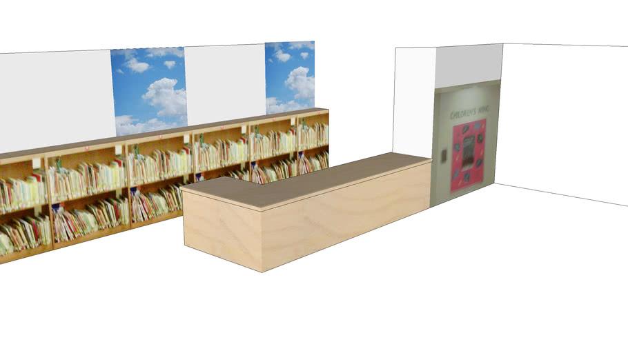 Option 1 design for Children's Wing Library Circulation Desk