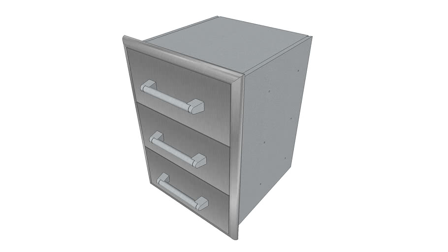 Three Drawer Cabinet - Coyote Outdoor Living, Inc.   3D ... on Coyote Outdoor Living Inc id=55650