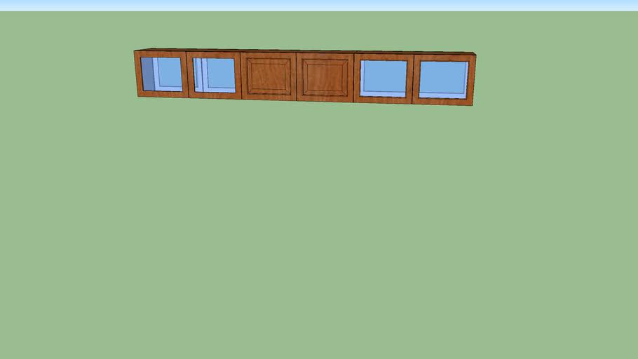 Upper glass cabinet