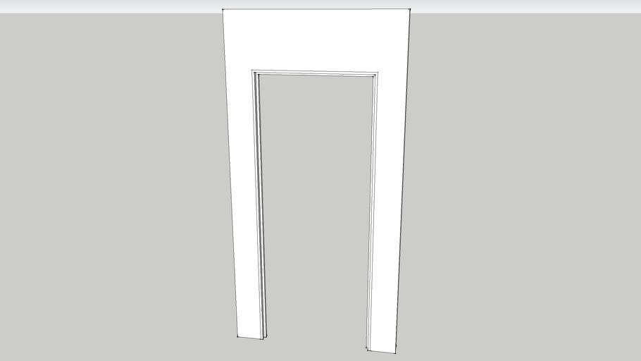 4x8 Flat with Door Jam