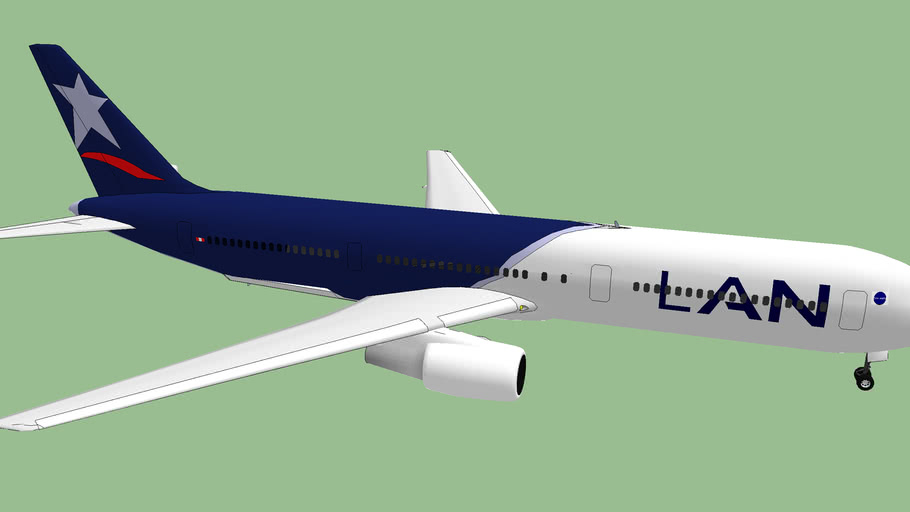 LAN Airlines (2012) - Boeing 767-300 (without winglets).