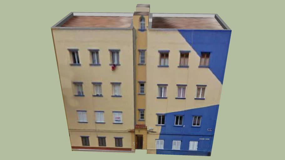 bloque azul amarillo escaleritas XVI