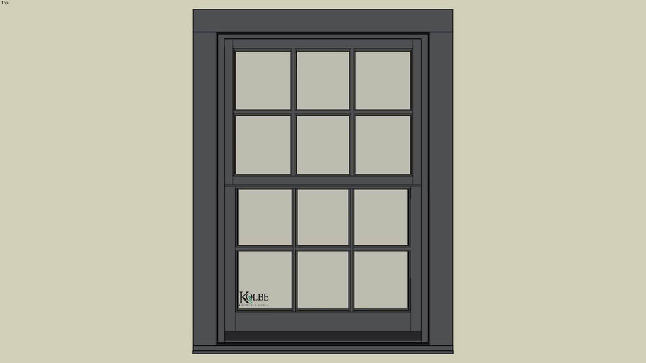 "Kolbe Ultra Sterling Double Hung UDH2820 (F.S. 2'-9 1/2"" x 4'-0 7/16"" R.O. 2'-10"" x 4'-1"")"