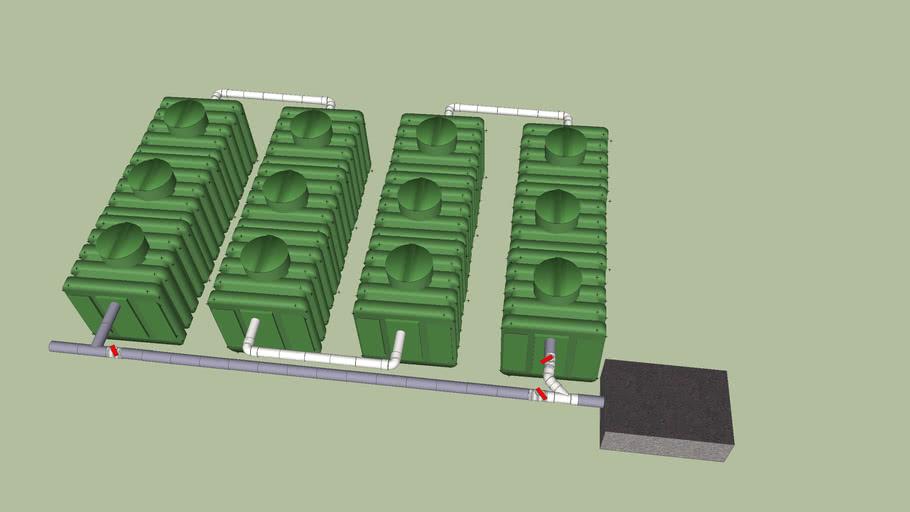 Planta de tratamiento de agua residual de 12 modulos MUTAR.