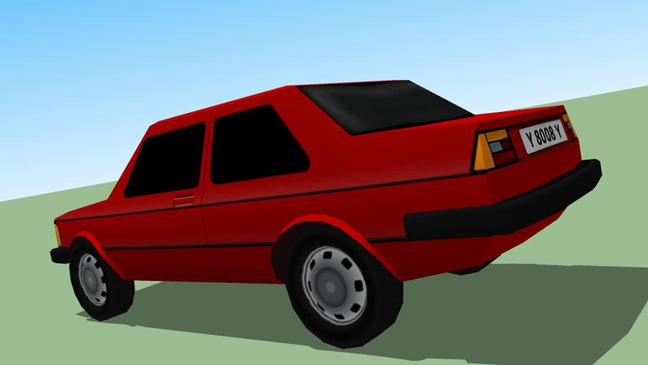 low poly VW Jetta I