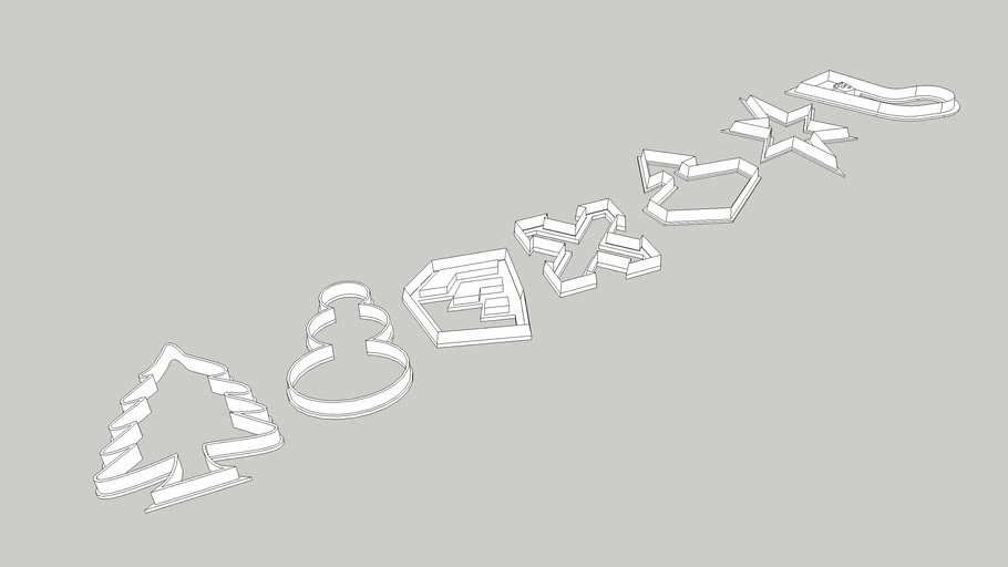 SketchUp Live Cookie Cutters