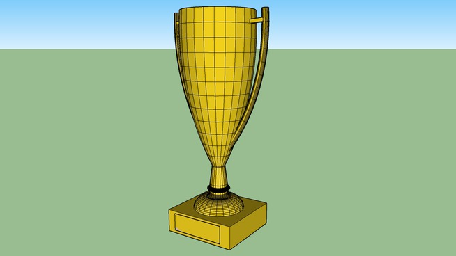 Paper Model Trophy
