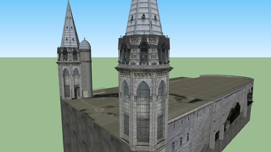Modelo 3D das Basílicas de Lourdes. 3 de 4.