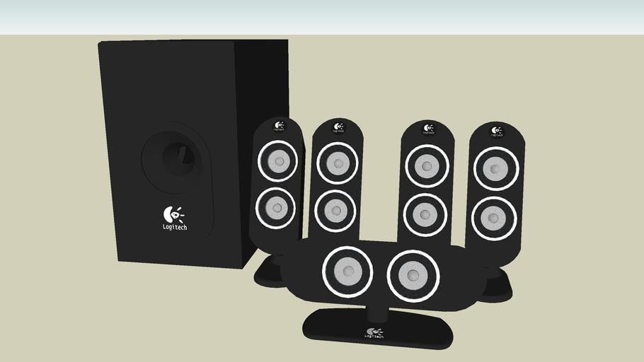 羅技          羅技喇叭  5.1  Logitech X-530 speaker  揚聲器
