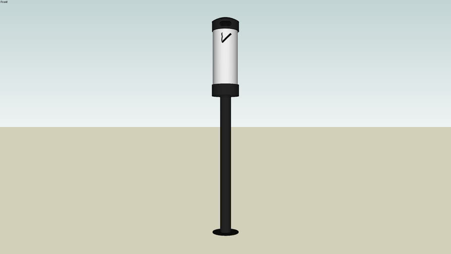 Forms+Surfaces® Buttler® Ash Receptacle, large, pole mount
