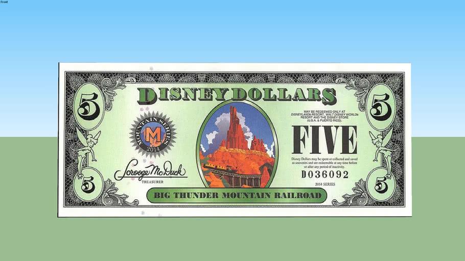 Five disney dollars - 5 $
